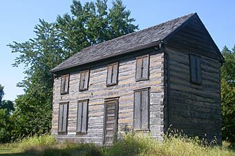 Historic log cabin.