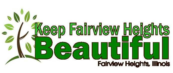 "Beautification Commission Logo with the words ""Keep Fairview Heights Beautiful."""