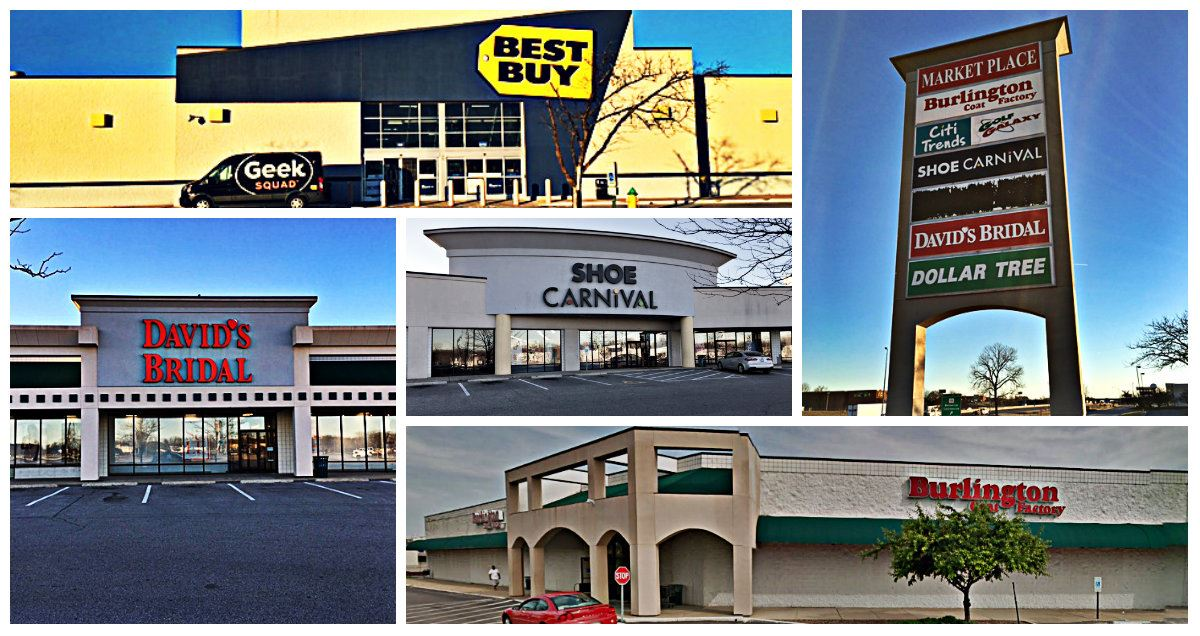 Marketplace Shopping Center Collage