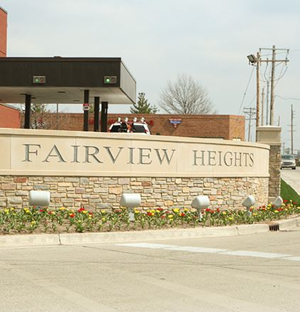 Fairview Heights brick sign